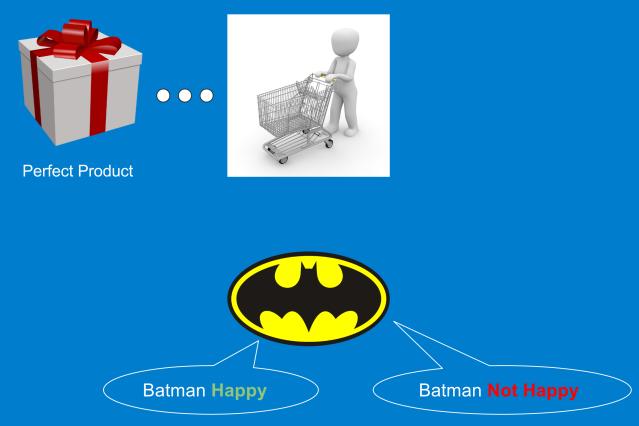 Batman as a customer